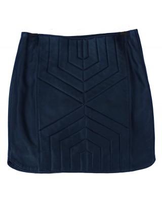 Black Cab Geometric Midi Skirt