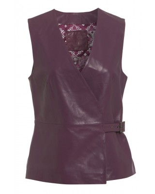 WRAPOVER TOP in DUSKY ORCHID