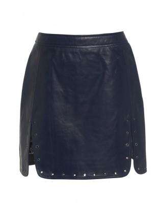 EYELET SKIRT FROM OF THE REALM IN BLUE INDIGO
