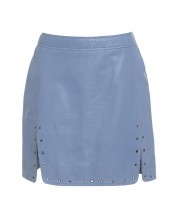 EYELET SKIRT FROM OF THE REALM IN CASHMERE BLUE