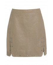 EYELET SKIRT FROM OF THE REALM IN GOAT BROWN
