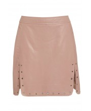 EYELET SKIRT FROM OF THE REALM IN PALE BLUSH