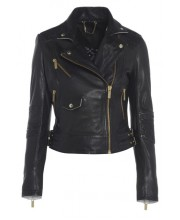 NOIR EMBROIDERED SIGNATURE BIKER