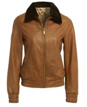 FUR COLLAR BOMBER IN CAMEL