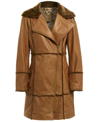 BELLA COAT IN CAMEL LEATHER