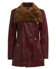 CHLOE COAT IN OXBLOOD RED
