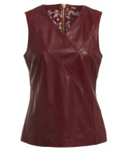 BETH TOP IN OXBLOOD RED