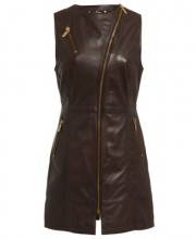ALEXA DRESS IN SEAL BROWN
