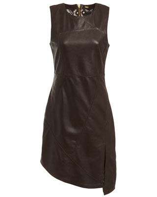 HOLLY DRESS IN SEAL BROWN