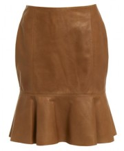 CIRCLE PANEL SKIRT IN CAMEL