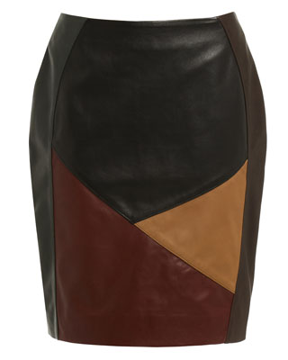 MULTI PANEL SKIRT IN BLACK