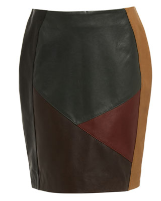 ELLE PANEL SKIRT IN SCARAB GREEN