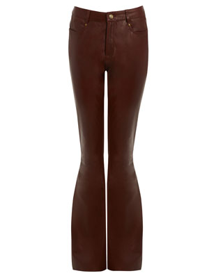 KENDALL FLARE TROUSER IN OXBLOOD RED