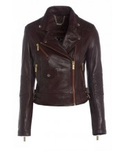 BORDEAUX EMBROIDERED SIGNATURE BIKER