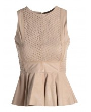 Cream Puff Peplum Top