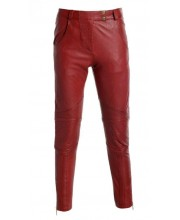 Brick Red Biker Trousers