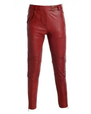 Brick Red Biker Trousers