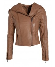 Timber Draped Hooded Bomber Jacket
