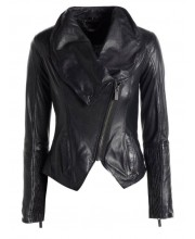 Black Cab Cowl Neck Jacket