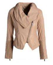 Dusty Pink Cowl Neck Jacket
