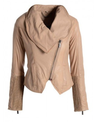 Dusty Pink Cowl Neck Jacket