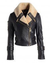 Black Cab Shearling Aviator Jacket
