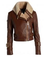 Coconut Brown Aviator Jacket
