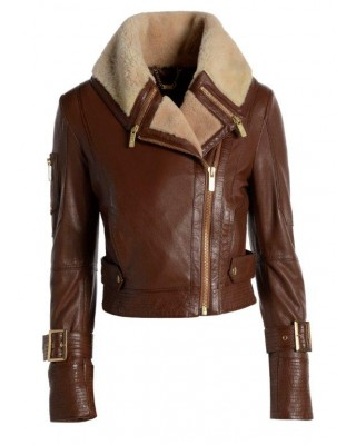 Coconut Brown Aviator Jacket