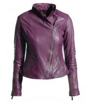 Purple Shawl Collar Jacket