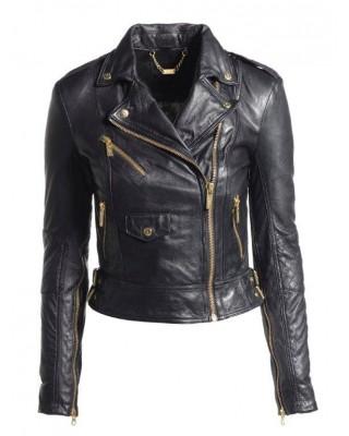 Black Cab Under Arm Zip Biker Jacket